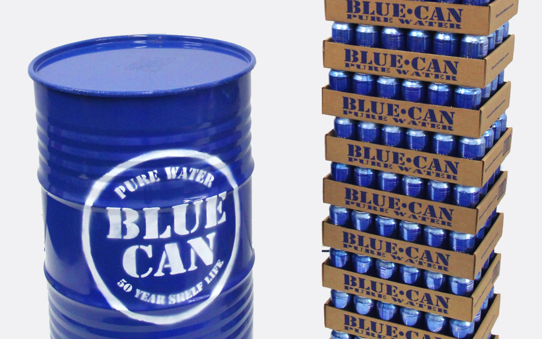 blue can water